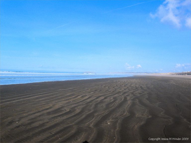 Natural sand ripples on the beach at Rhossili