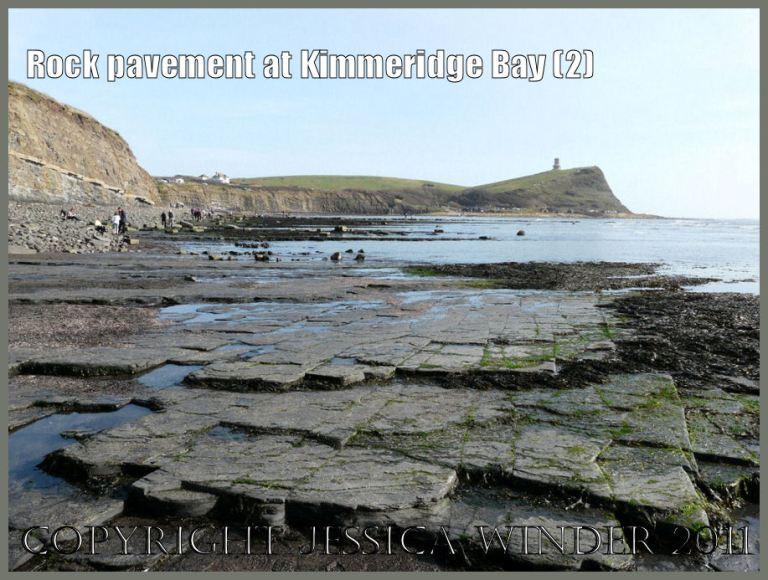 P1060201aBlog2 Grey rock pavement on the shore at Kimmeridge Bay, Dorset, UK - part of the Jurassic Coast World Heritage Site