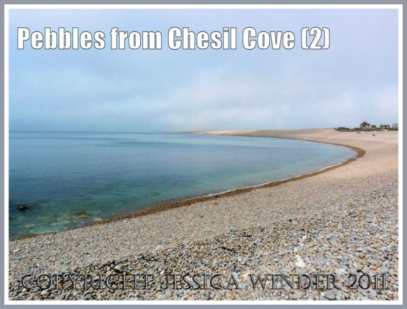 Chesil Beach: View looking westwards along Chesil Bank from just below the promenade at Chesil Cove, Portland, Dorset, UK - part of the Jurassic Coast (2)