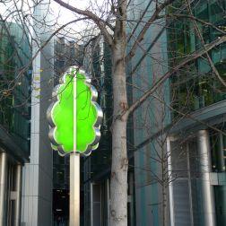 Tree shaped lamp post, South Bank, London