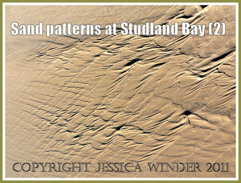 Sand pattern picture: Intertidal sand patterns on the National trust owned beach at Studland Bay, Dorset, UK on the Jurassic Coast (P1110262aBlog2)
