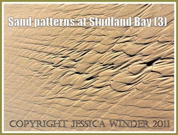 Sand pattern picture: Intertidal sand patterns on the National Trust owned beach at Studland Bay, Dorset, UK on the Jurassic Coast (P1110266aBlog3)