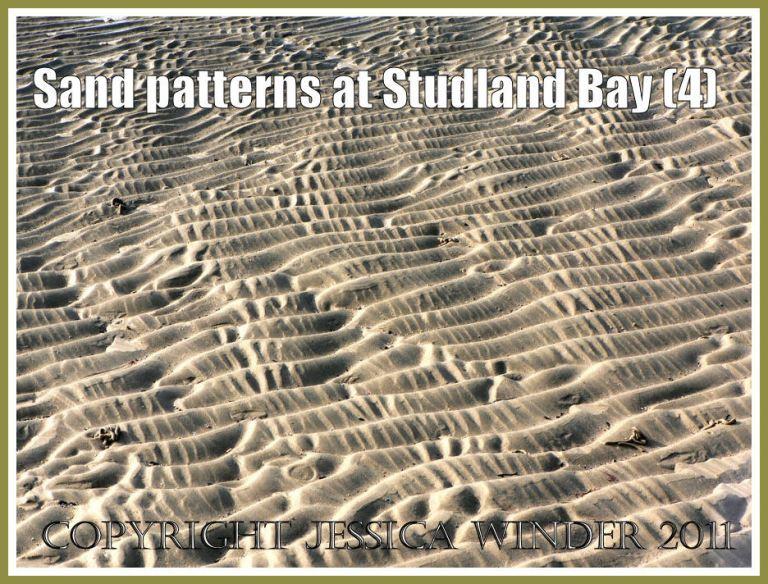Seashore sand photograph: Intertidal sand patterns on the National Trust owned beach at Studland Bay, Dorset, UK on the Jurassic Coast (P1110401aBlog4)