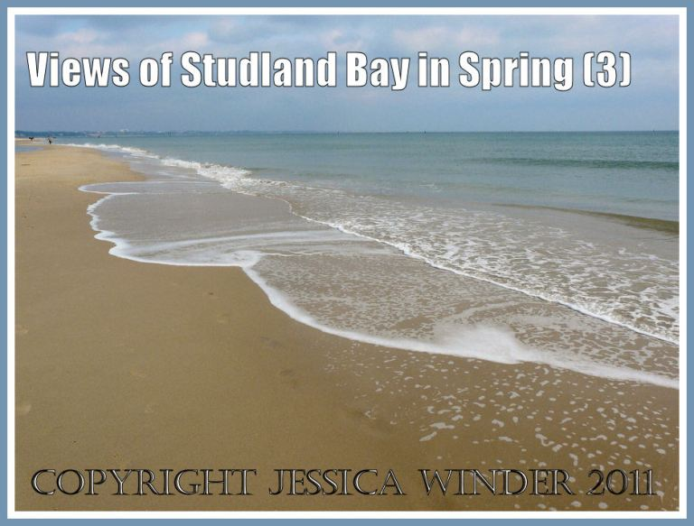 Studland Beach photograph: The pattern of the surf on the sand at Studland Bay, Dorset, UK, March 2009, part of the Jurassic Coast (P1050416aBlog3)