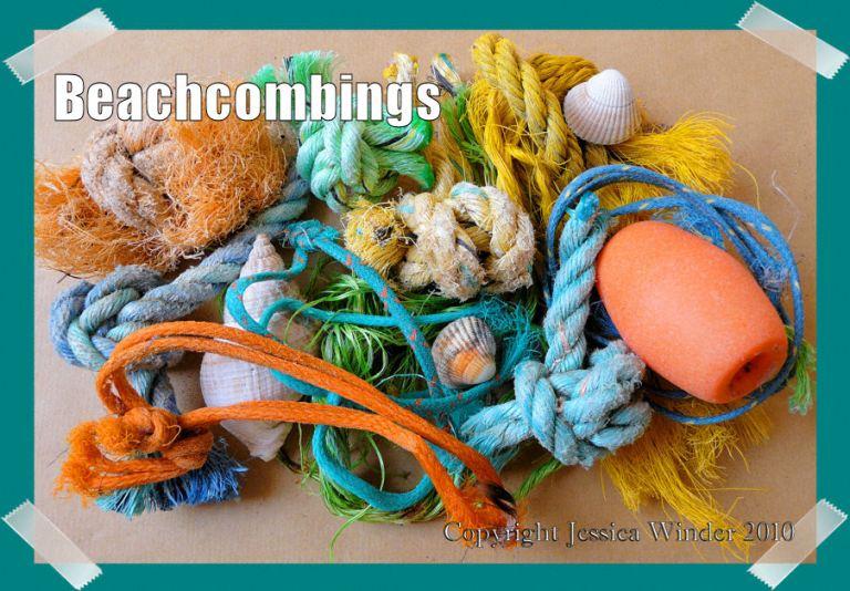 Beachcombings - fishing ropes, float and seashells - P1080365SnapshotBeachcombings