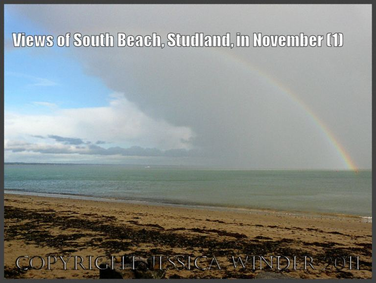 Rainbow picture: Rainbow in the storm clouds over Studland Bay, Dorset, UK - part of the Jurassic Coast, November 27th 2009 (1)