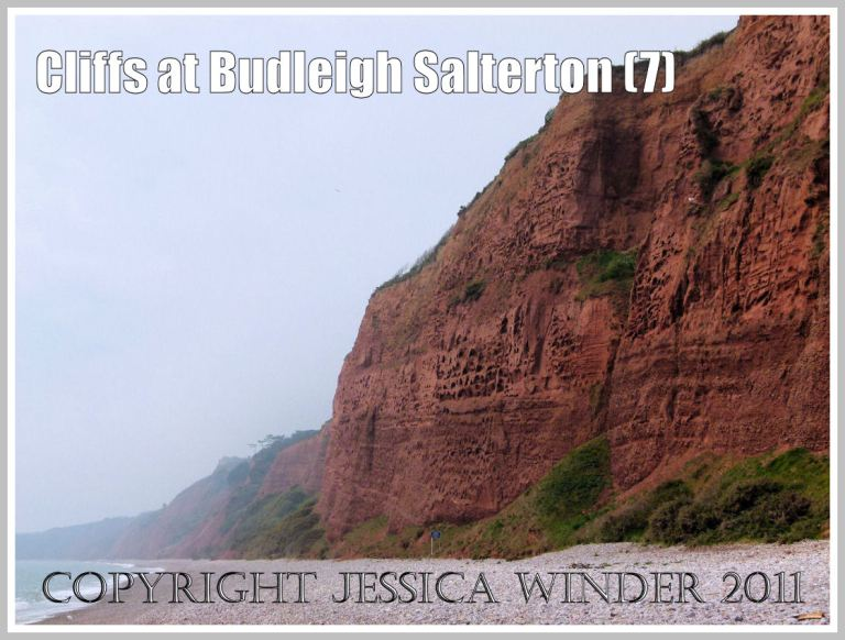 View of the red Triassic Sandstone cliffs at Budleigh Salterton in Devon, U.K. on the Jurassic Coast World Heritage Site (7)