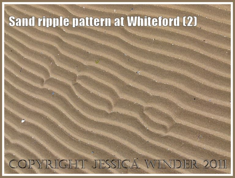 Patterns in nature: Sand ripple pattern at Whiteford Sands, Gower, South Wales, UK (2)