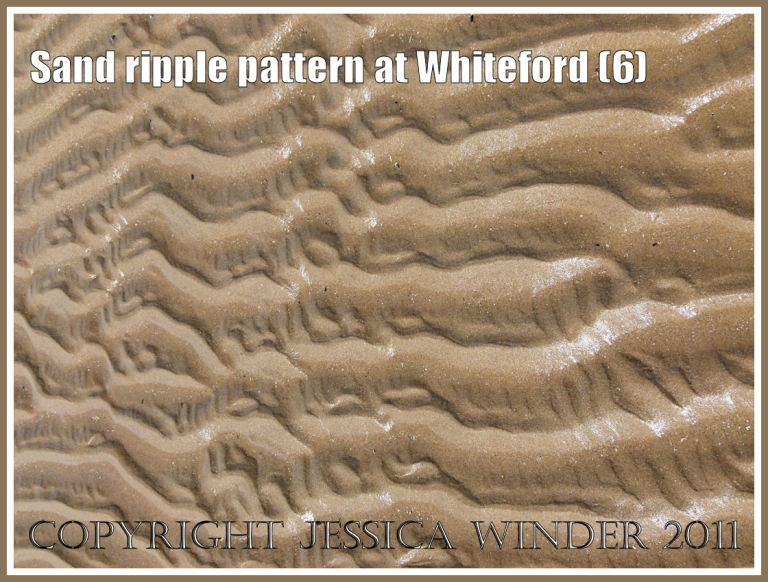Patterns in nature: Sand ripple pattern at Whiteford Sands, Gower, South Wales, UK (6)