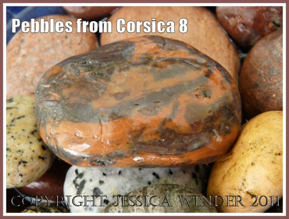 Pebbles from Corsica: Orange and black pebble from Corsica (8)