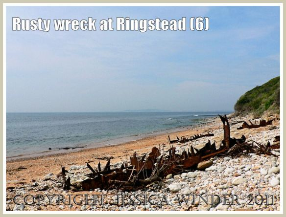 The rusting remains of an iron ship wreck at Ringstead Bay, Dorset, UK (part of the Jurassic Coast) (6)