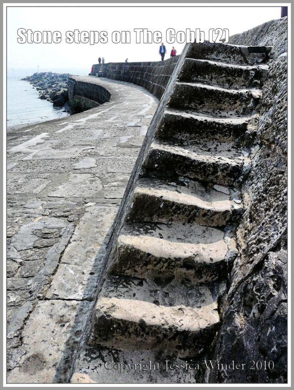 Stone steps on The Cobb at Lyme Regis, Dorset, UK, on the Jurassic Coast (2)