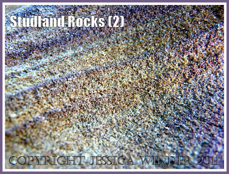 Rock colour, pattern, and texture in cliffs at Studland Bay, Dorset, UK, on the Jurassic Coast (2)