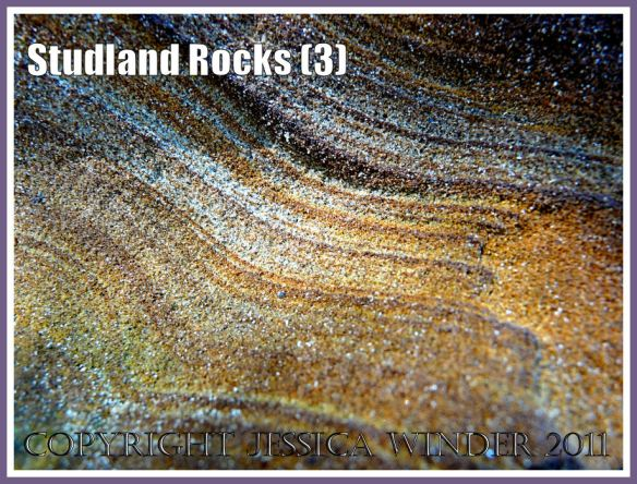 Rock colour, pattern, and texture in cliffs at Studland Bay, Dorset, UK, on the Jurassic Coast (3)