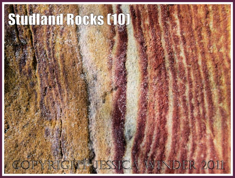 Rock colour, pattern, and texture in cliffs at Studland Bay, Dorset, UK, on the Jurassic Coast (10)