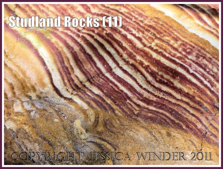 Rock colour, pattern, and texture in cliffs at Studland Bay, Dorset, UK, on the Jurassic Coast (11)
