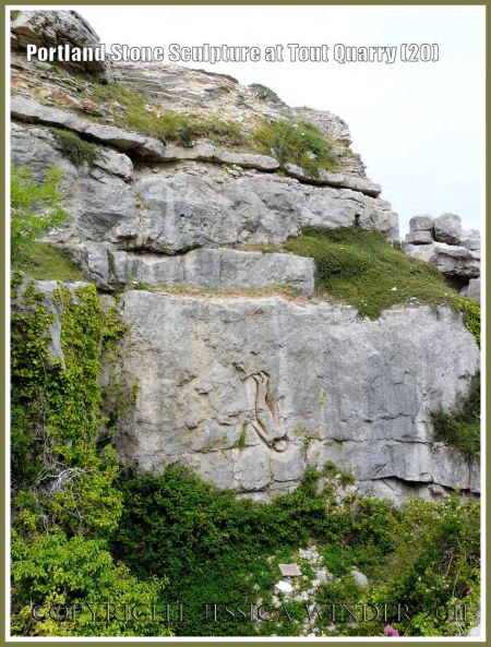 Portland Stone sculpture at Tout Quarry, Isle of Portland, Dorset, UK on the Jurassic Coast - falling man (20)
