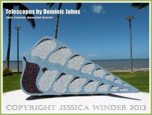 Telescopus by Dominic Johns - A sculpture on the esplanade at Cairns, Queensland, Australia.