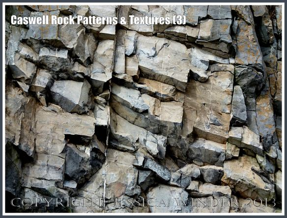 Caswell Rock Patterns & Textures  (3) - Natural patterns in Carboniferous cliff strata at Caswell Bay, Gower, South Wales.