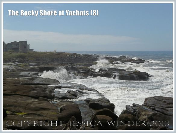 Holiday homes and hotels perch on the coastline rocks at Yachats