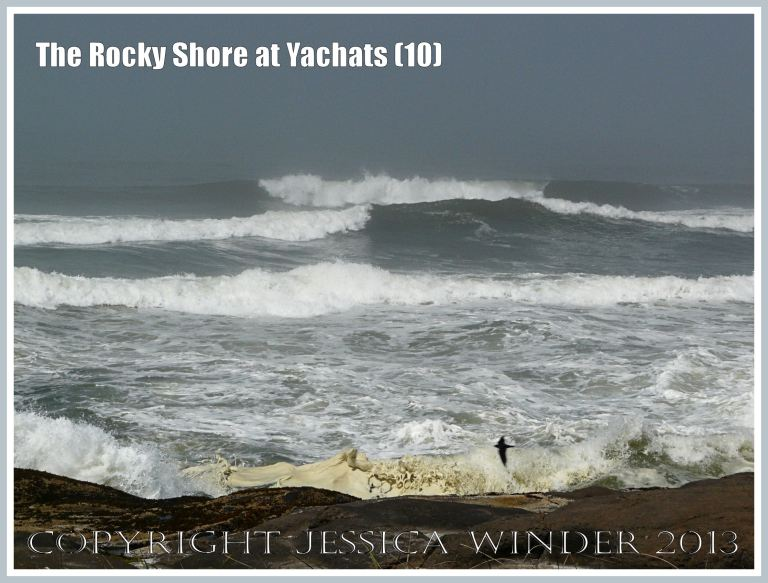 Rough seas attack the rocky shore at Yachats.