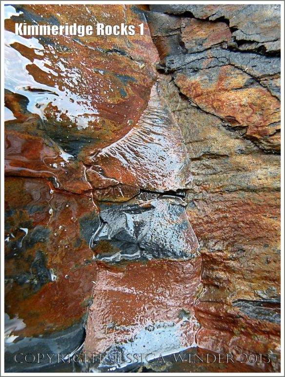 Wet rock colour and texture