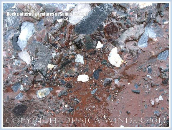 Natural patterns and textures in rocks at Saints Rest Beach, New Brunswick, Canada