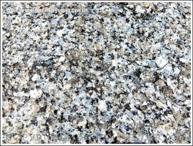 Close-up of granite texture and structure