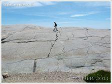 Glaciated granite landscape at Peggy's Cove, Nova Scotia, Canada