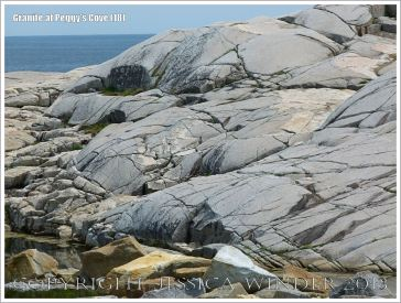 Glaciated granite landscape at Peggy's Cove, Nova Scotia, Canada