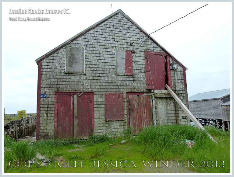 Old herring smoke house at Seal Cove, on the island of Grand Manan, New Brunswick, Canada.