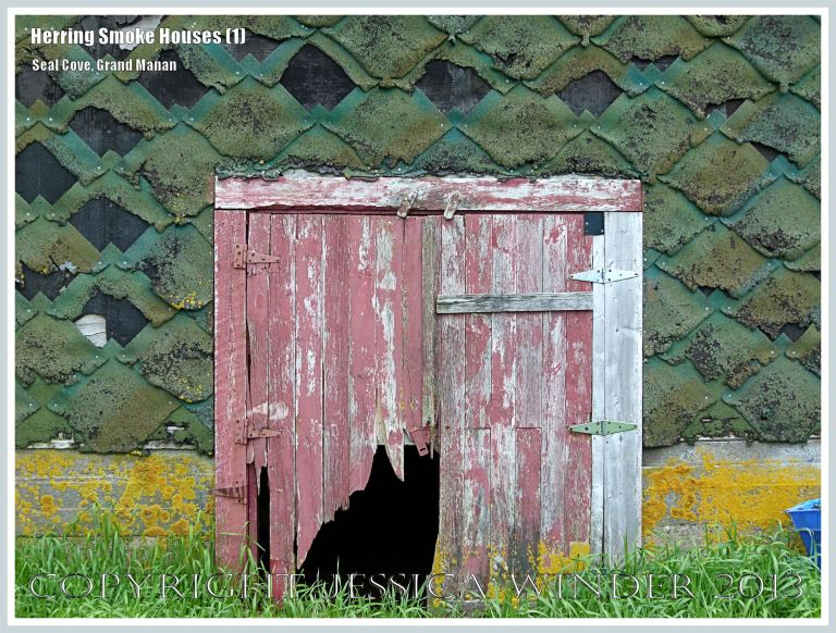 Detail of an old herring smoke house at Seal Cove, on the island of Grand Manan, New Brunswick, Canada.