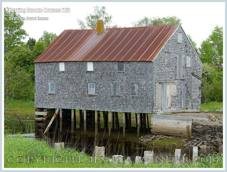 Old herring smoke houses at Seal Cove, on the island of Grand Manan, New Brunswick, Canada.