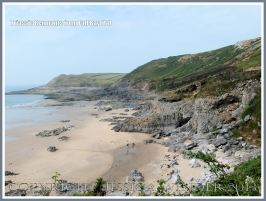 View looking sout westwards across Fall Bay, Gower.