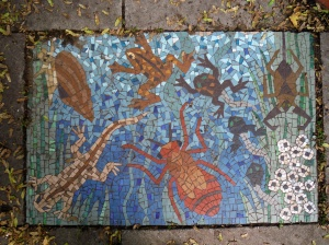 Pond life mosaic picture
