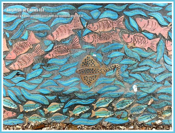 Cairns fish celebrated in ceramic art form on Cairns Esplanade pavement
