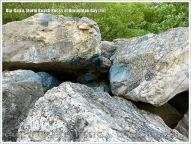 Boulders on the beach as a defence against coastal erosion