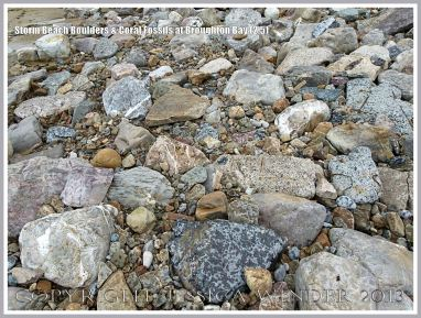 Boulders, cobbles and pebbles at Broughton Bay
