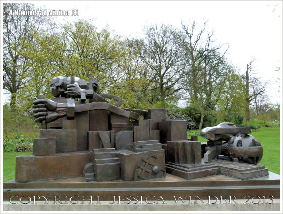 "Aspect of the sculpture entitled ""A Maximis Ad Minima"" by Sir Eduardo Paolozzi (1998)"