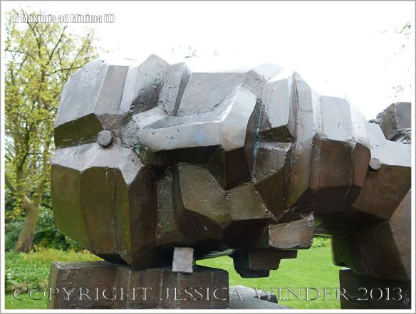"The head of the sculpture entitled ""A Maximis Ad Minima"" by Sir Eduardo Paolozzi (1998)"