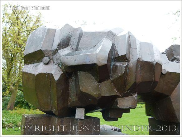 "The head of the sculpture entitled ""A Maximis Ad Minima"" by Sir Eduardo Paolozzi (1998)"