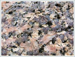 Close-up of granite rock rip-rap at Delaps Cove