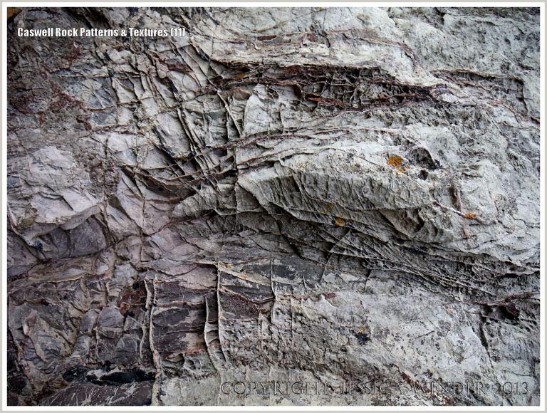 Calcite vein network in Carboniferous Limestone