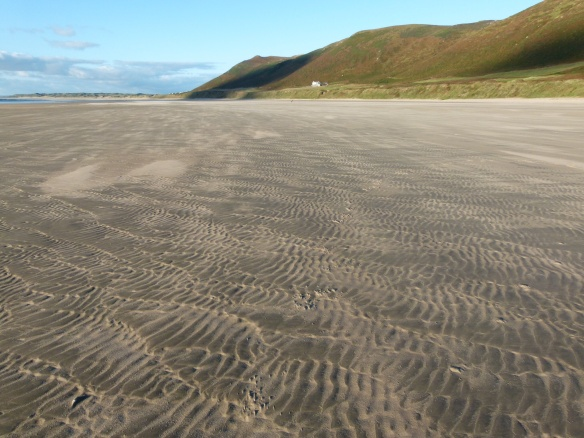 Sand ripple patterns on the beach