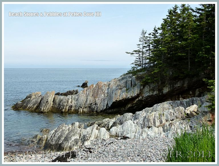 View at Pettes Cove on Grand Manan Island, New Brunswick, looking southwest towards Net Point