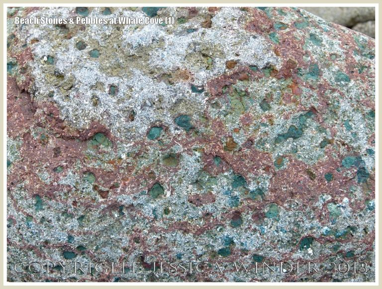 Beach stone texture and colour at Whale Cove