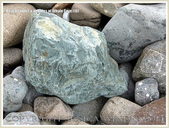 Beach stone shape, texture, pattern, and colour at Whale Cove