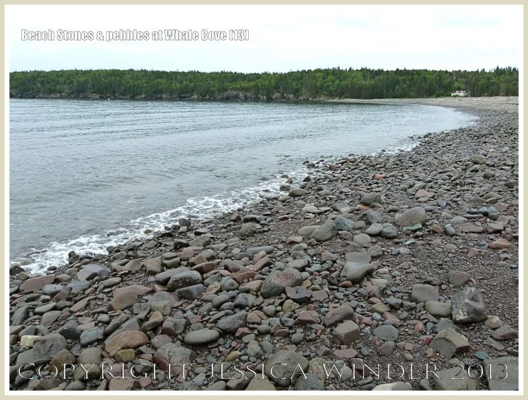 Shore-line beach stones and pebbles at Whale Cove on Grand Manan.