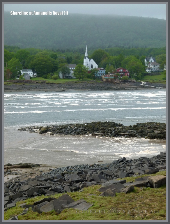 View across the water from Annapolis Royal to Granville Ferry in Nova Scotia