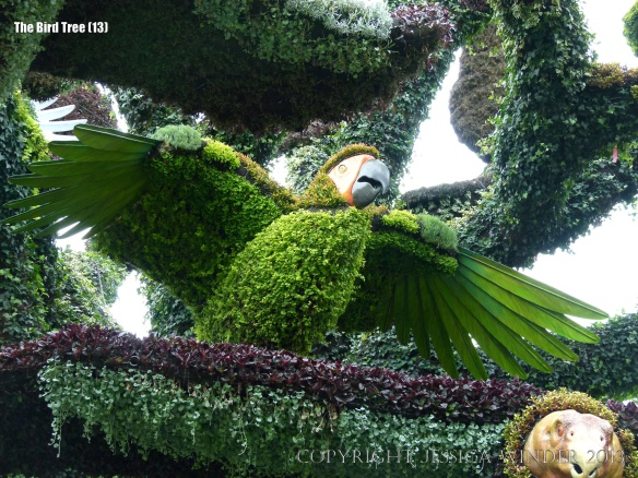 The Bird Tree mosaiculture at Jardin Botanique de Montreal